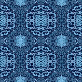 Classic blue seamless pattern