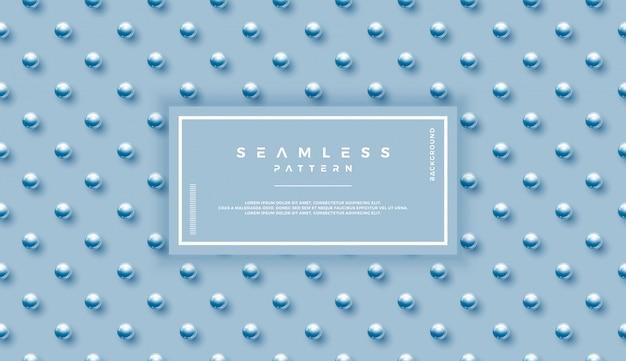古典的な青い球のシームレスパターン