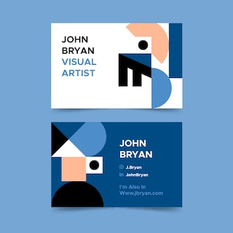 Classic blue style for business card template