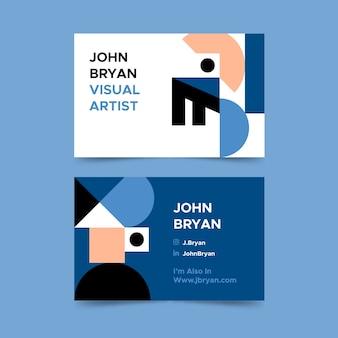 Классический синий стиль для шаблона визитной карточки