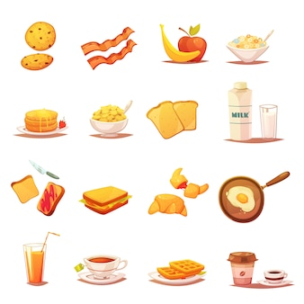 Classic breakfast icons