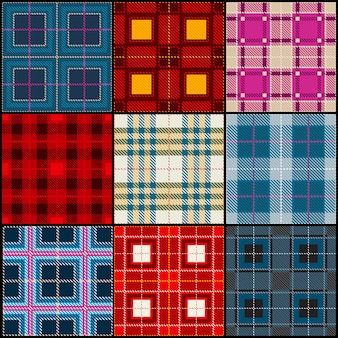 Classic british traditional seamless pattern collection