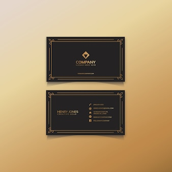 Classic brown and gold business card
