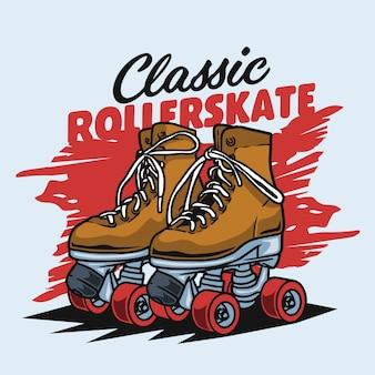 Classic brown rollerskate