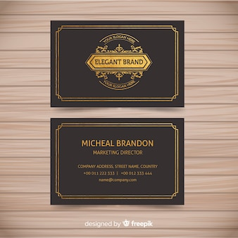 Classic business card template with elegant style