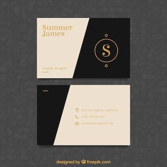 Классическая визитная карточка с элегантным стилем