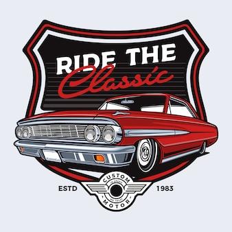 Classic car badge