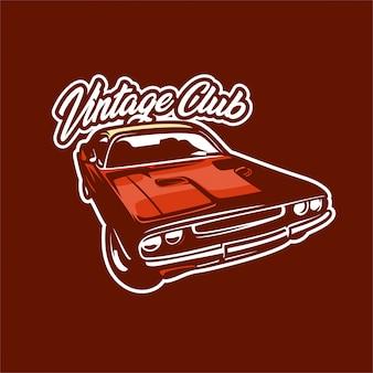 Classic car club logo illustration