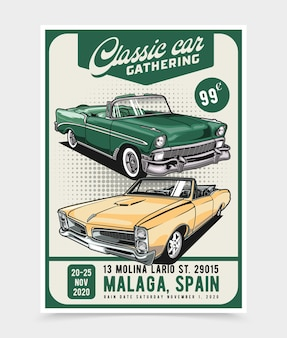 Classic car gathering