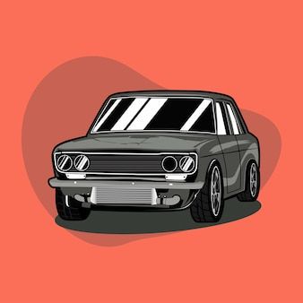 Classic car icon illustration.