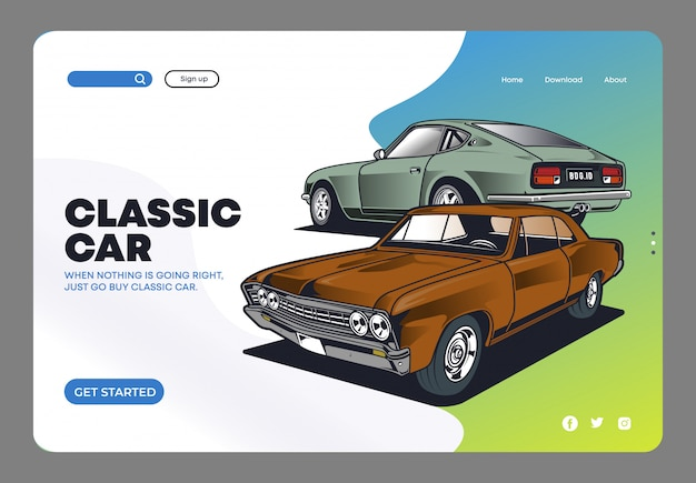 Classic car landing page