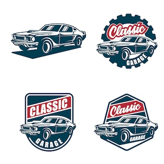 Classic car logo and badges