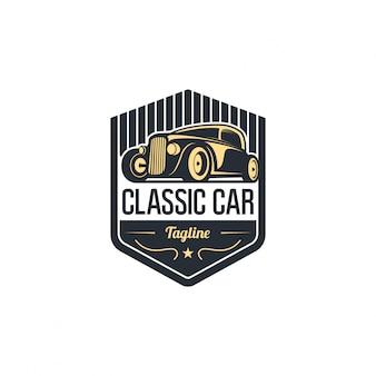 Classic car logo emblem template