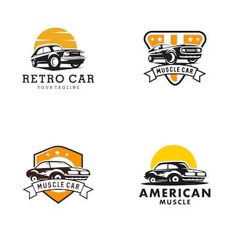 クラシックカーのロゴのテンプレート