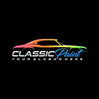 Шаблон логотипа классической автомобильной краски