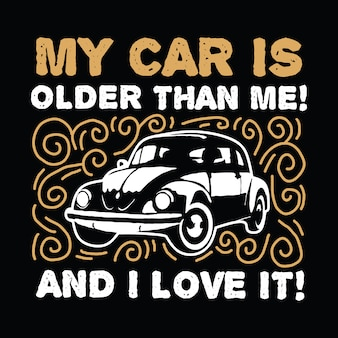 Classic car saying & quote
