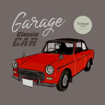 Classic car vintage style