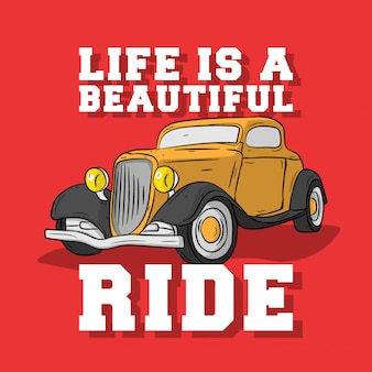 Classic cars with vintage style