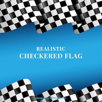 Classic checkered flags with realistic design