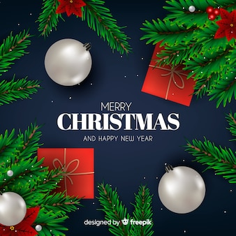 Classic christmas background with lovely style
