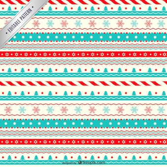 Classic christmas pattern Free Vector