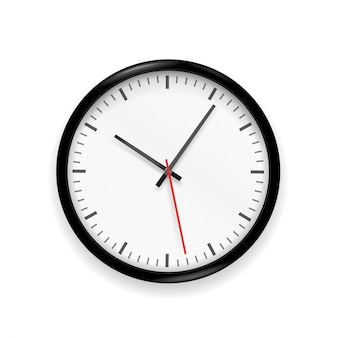 Classic clock  isolated on white background