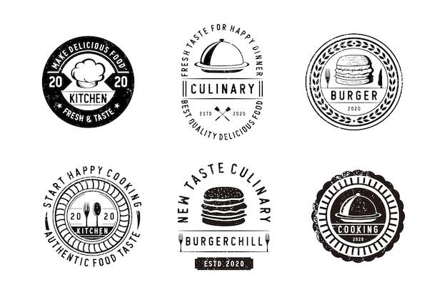 Classic collection of retro restaurant logos