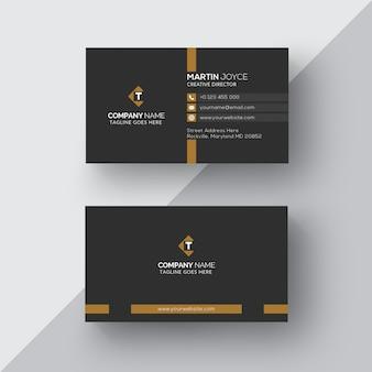 Шаблон визитной карточки classic design black & bronze
