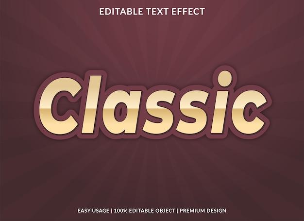 Classic editable text effect template premium vector