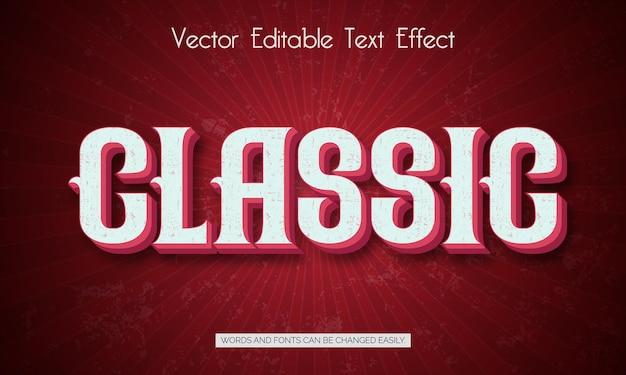 Классический редактируемый эффект стиля текста