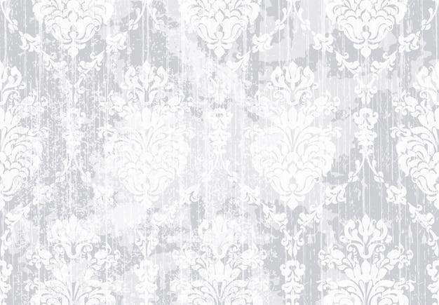 古典的なエレガントな飾りパターンの水彩画。繊細なカラーテクスチャ素材