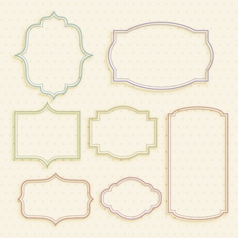 Classic empty vintage labels frame set