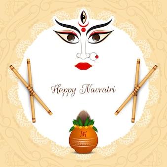 Classic ethnic happy navratri festival background vector