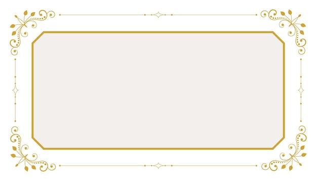 Классическая цветочная рамка декоративный фон