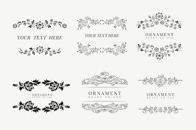 Classic floral frame set