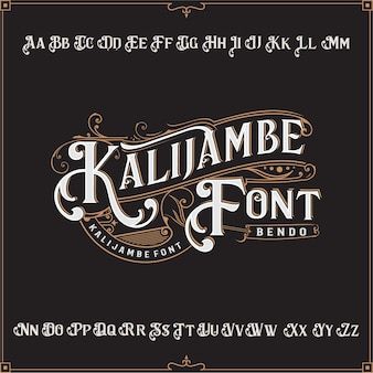 Classic font vector a to z