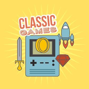 Classic games console