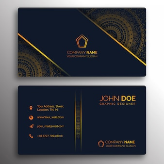 Classic golden business card design