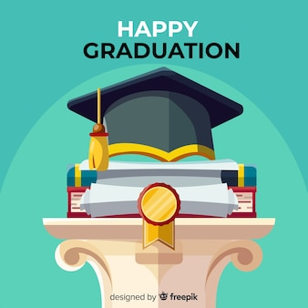 Classic graduation concept with flat design