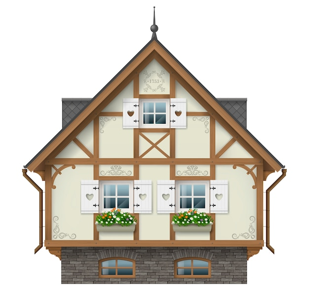 Classic half timbered house