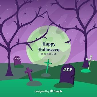 Sfondo di halloween classico con design piatto