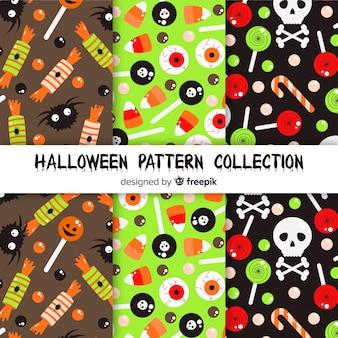 Коллекция классического хэллоуина с плоским дизайном