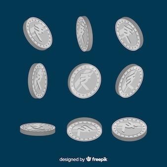 Классические индийские монеты рупии compositio
