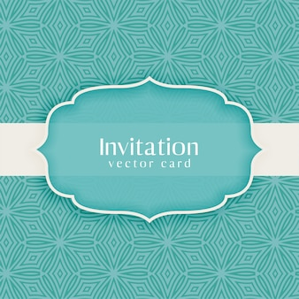 Classic invitation vintage decorative blue
