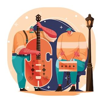 Classic jazz musician character