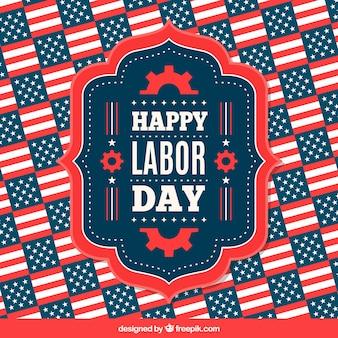 Classic labor day celebration composition