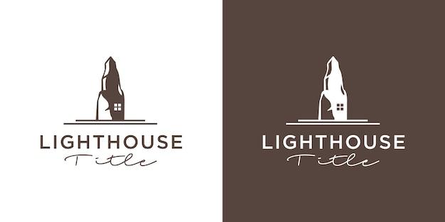 Классический дизайн логотипа щита маяка