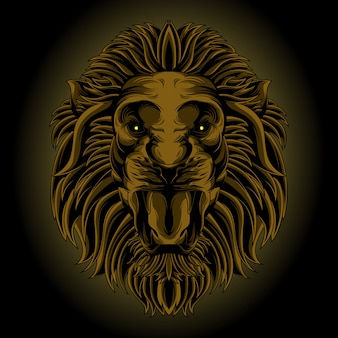 Classic lion head