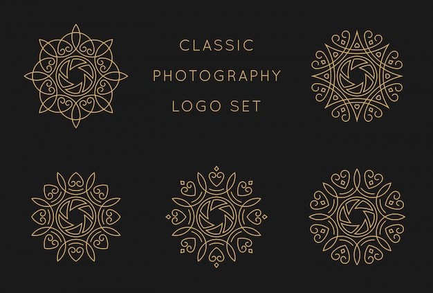 Classic logo set design template