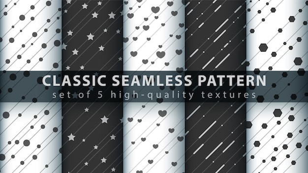 Classic love heart seamless pattern